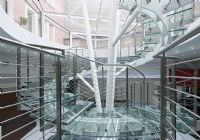 Staircase glass / metall Hotel Serena